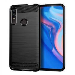 Carbon Case rugalmas Cover TPU tok Huawei P Smart Z fekete telefon tok telefontok