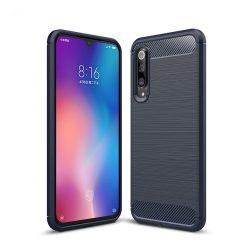 Carbon Case rugalmas Cover TPU tok Xiaomi Mi 9 SE kék tok telefon tok hátlap