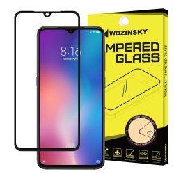 Wozinsky edzett üveg Teljes Glue Super Tough képernyővédő fólia Teljes Coveraged kerettel Case barátságos Xiaomi Mi A3 / Xiaomi Mi CC9e fekete kijelzőfólia üvegfólia tempered glass