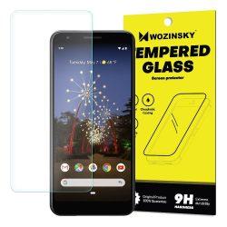 Wozinsky edzett üveg 9H képernyővédő fólia Google Pixel 3a XL (csomagolás - boríték) kijelzőfólia üvegfólia tempered glass