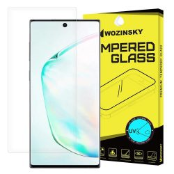 Wozinsky edzett üveg UV képernyővédő fólia 9H Samsung Galaxy Note 10 (megjelenítési ujjlenyomat - barát) - ragasztó és UV lámpa nélkül (csak az üvegfólia) kijelzőfólia üvegfólia tempered glass