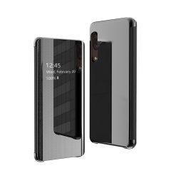 Flip View tok Samsung Galaxy A50 fekete tok telefon tok hátlap