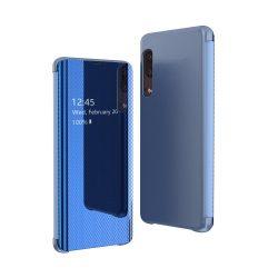 Flip View tok Samsung Galaxy A50 kék tok telefon tok hátlap