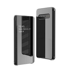 Flip View tok Samsung Galaxy S10e fekete tok telefon tok hátlap