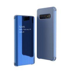 Flip View tok Samsung Galaxy S10 Plus kék tok telefon tok hátlap