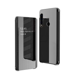 Flip View fedél Huawei P30 Lite fekete tok telefon tok hátlap