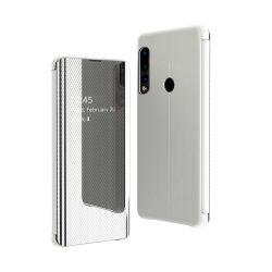 Flip View Cover Huawei P30 Lite Silver tok telefon tok hátlap