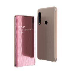 Flip View Cover Huawei P30 Lite Pink tok telefon tok hátlap