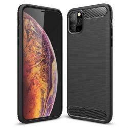 Carbon tok Rugalmas tok TPU tok iPhone 11 fekete telefontok hátlap tok