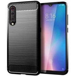 Carbon tok Rugalmas tok TPU tok Xiaomi Mi A3 / Xiaomi Mi CC9E fekete telefontok hátlap tok