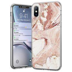 Wozinsky Marble TPU tok iPhone 8 / iPhone 7 pink telefontok hátlap tok