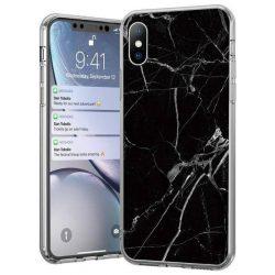 Wozinsky Marble TPU tok Xiaomi redmi Note 7 fekete telefontok hátlap tok