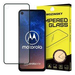 Wozinsky edzett üveg tempered glass tempered glass tempered glass Teljes Glue Super Tough képernyővédő fólia teljes képernyős kerettel tokbarát Motorola One akció / Motorola One Vision fekete telefontok hátlap tok