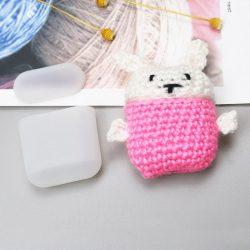 Silicon doboz AirPods 2gen / 1gen fejhallgató gyapjú sapka Bunny