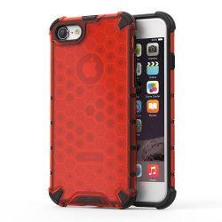 Honeycomb Case páncél fedél TPU Bumper iPhone 8 / iPhone piros 7-es tok telefon tok hátlap