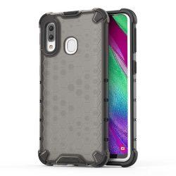 Honeycomb tok páncél telefontok TPU Bumper Samsung Galaxy A40 fekete telefontok hátlap tok