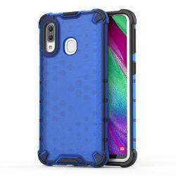 Honeycomb tok páncél telefontok TPU Bumper Samsung Galaxy A40 kék telefontok tok