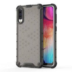 Honeycomb tok páncél telefontok TPU Bumper Samsung Galaxy A50 fekete telefontok hátlap tok