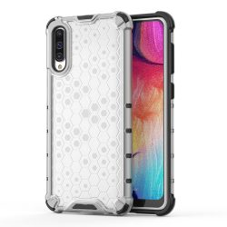 Honeycomb Case páncél fedél TPU Bumper Samsung Galaxy A50 átlátszó tok telefon tok hátlap