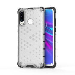 Honeycomb Case páncél fedél TPU Bumper Huawei P30 Lite átlátszó tok telefon tok hátlap