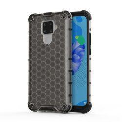 Honeycomb Case páncél fedél TPU Bumper Huawei Mate Lite 30 / 5i Huawei Nova Pro fekete tok telefon tok hátlap