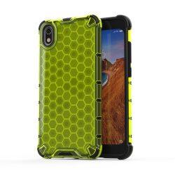 Honeycomb Case TPU Bumper Xiaomi redmi 7A zöld telefon tok telefontok