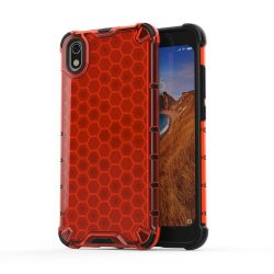 Honeycomb Case TPU Bumper Xiaomi redmi 7A piros telefon tok telefontok