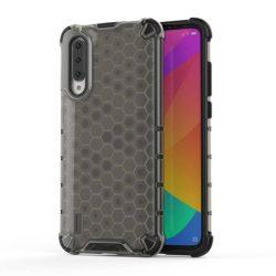 Honeycomb tok páncél telefontok TPU Bumper Xiaomi Mi CC9e / Xiaomi Mi A3 fekete telefontok hátlap tok