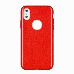 Wozinsky Shining Glitter tok Huawei Mate Lite 30 piros tok telefon tok hátlap