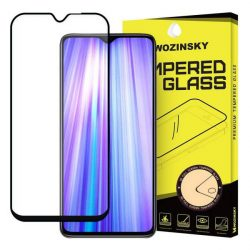 Wozinsky edzett üveg tempered glass tempered glass tempered glass FullGlue Super Tough képernyővédő fólia teljes képernyős kerettel tok barátságos Xiaomi redmi Note 8 Pro fekete telefontok tok