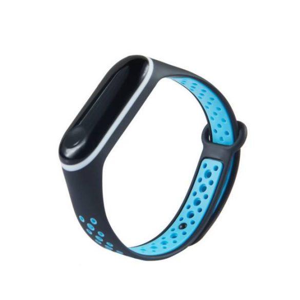 Csereszíj Xiaomi Mi Band 4 / Mi Band 3 Dots fekete-kék