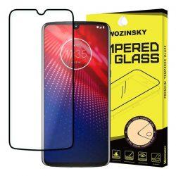 Wozinsky edzett üveg FullGlue Super Tough képernyővédő fólia a Coveraged Full Frame tok Motorola Moto barát Z4 Feketekijelzőfólia üvegfólia tempered glass