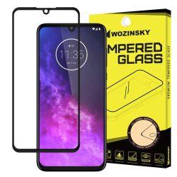 Wozinsky edzett üveg FullGlue Super Tough képernyővédő fólia a Coveraged Full Frame tok Motorola barát egy fekete zoomkijelzőfólia üvegfólia tempered glass
