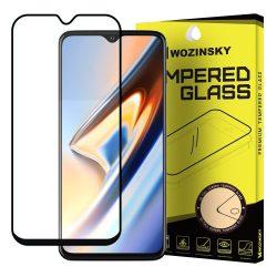 Wozinsky edzett üveg Teljes Glue Super Tough képernyővédő fólia a Coveraged Full Frame tok OnePlus barát 7T feketekijelzőfólia üvegfólia tempered glass