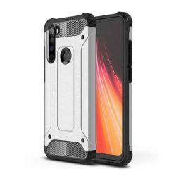 Hibrid Armor tok Kemény telefontok Xiaomi redmi Note 8 ezüst telefontok hátlap tok