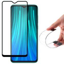 Wozinsky Full tok Flexi Nano üveg hibrid Screen Protector kerettel Xiaomi redmi Note 8 Pro fekete telefontok tok