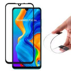 Wozinsky Full tok Flexi Nano üveg hibrid Screen Protector kerettel Huawei P30 Lite fekete telefontok hátlap tok