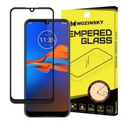Wozinsky edzett üveg tempered glass tempered glass tempered glass FullGlue Super Tough képernyővédő fólia teljes képernyős kerettel tokbarát Motorola Moto E6 Plus átlátszó telefontok hátlap tok