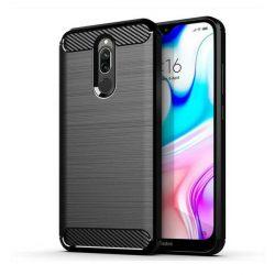 Carbon tok Rugalmas tok TPU tok Xiaomi redmi 8 fekete telefontok tok