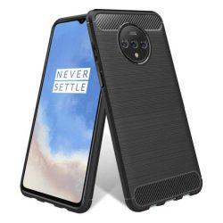 Carbon tok Rugalmas tok TPU tok OnePlus 7T fekete telefontok hátlap tok