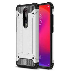 Hibrid Armor tok Kemény telefontok Xiaomi redmi 8 ezüst telefontok tok