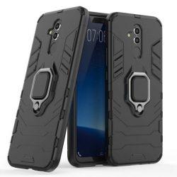 Ring Armor tok kitámasztható Kemény tok Huawei Mate 20 Lite fekete telefontok hátlap tok
