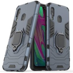 Ring Armor tok kitámasztható Kemény tok Samsung Galaxy A40 kék telefontok tok