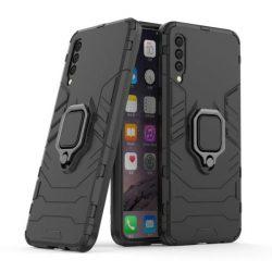 Ring Armor tok kitámasztható Kemény tok Samsung Galaxy A50 fekete telefontok tok