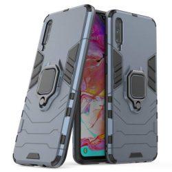 Ring Armor tok kitámasztható Kemény tok Samsung Galaxy A70 kék telefontok hátlap tok