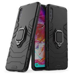 Ring Armor tok kitámasztható Kemény telefontok Xiaomi Mi CC9e / Xiaomi Mi A3 fekete telefontok hátlap tok
