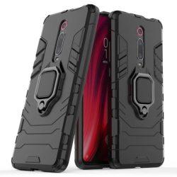 Ring Armor tok kitámasztható Kemény telefontok Xiaomi Mi 9T / Xiaomi Mi 9T Pro fekete telefontok hátlap tok