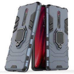 Ring Armor tok kitámasztható Kemény telefontok Xiaomi Mi 9T / Xiaomi Mi 9T Pro kék telefontok hátlap tok