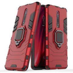 Ring Armor tok kitámasztható Kemény telefontok Xiaomi Mi 9T / Xiaomi Mi 9T Pro piros telefontok tok