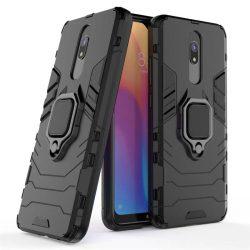 Ring Armor tok kitámasztható Kemény telefontok Xiaomi redmi 8A / Xiaomi redmi 8 fekete telefontok hátlap tok